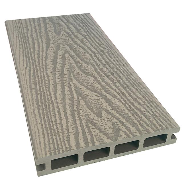 Elegance Prestige Rustic Decking Board - 8' - Light Grey
