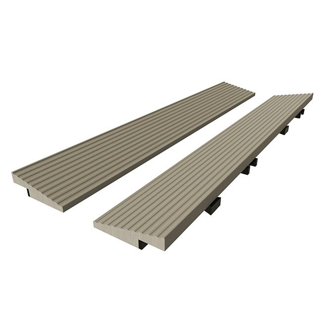 """Straight Edge for Tile - 2"""" x 12"""" - Composite - Light Grey"""