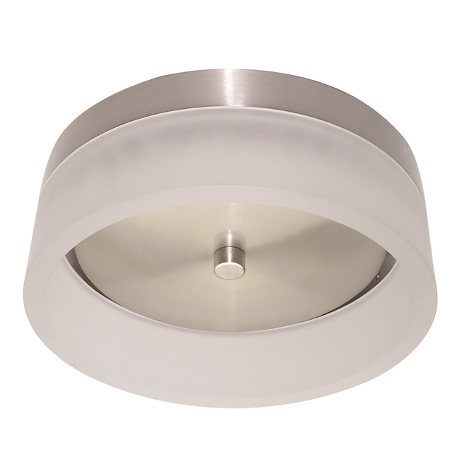Leadvision 1 Light Round Flushmount Edgelite Led 8 In Brushed Nickel Lvfm1181250l Rona