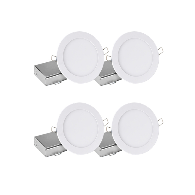 Leadvision Recessed Dimmable Lights - Slim LED - 11 W - White - Set of 4