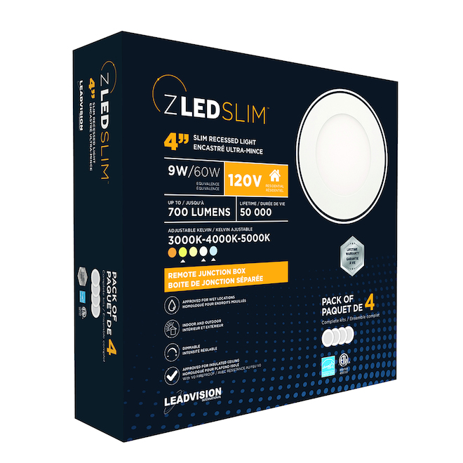 Leadvision Recessed Dimmable Lights - LED - 11 W - 4-Pack