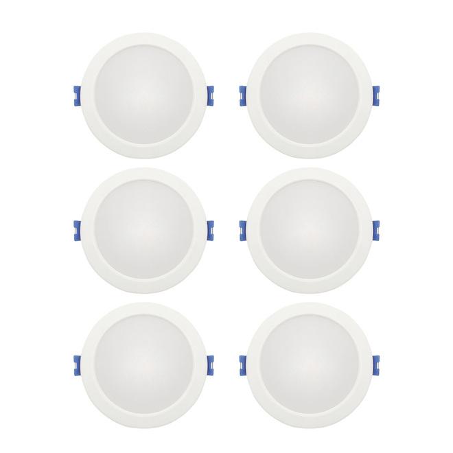 Ensemble de lumières encastrées à intensité variable Leadvision, DEL, 4 po, 10 W, paquet de 6