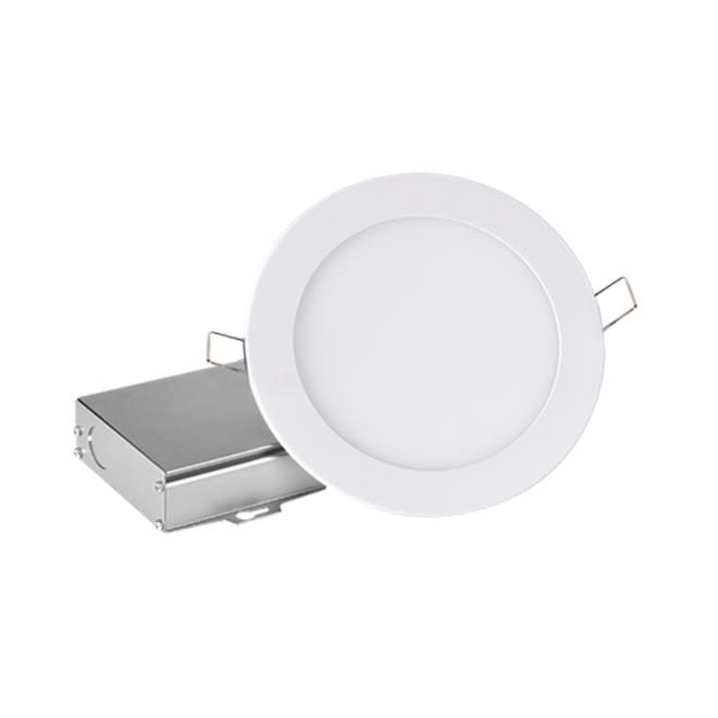 Luminaire DEL encastré ultra-mince avec boîte de jonction séparée, intensité réglable, 6 po, blanc