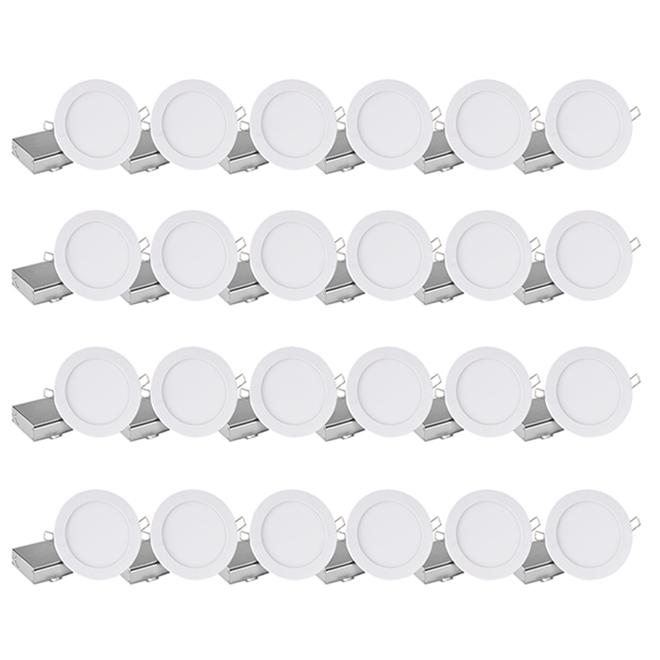 Luminaires encastrés DEL Z LEDSLIM à intensité variable 11 W, 4 po, blanc, paquet de 24
