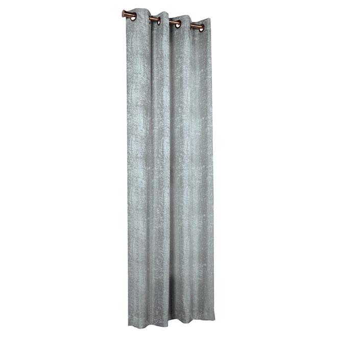 Rideau à anneaux «Concrete», sarcelle