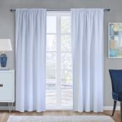 Ultimate Total Blackout Curtain Liner  - 45-in x 77-in - Polyester - White