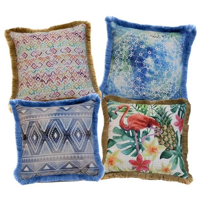 "Decorative Patio Cushion - Polyester - 18"" x 18"" - Assorted"