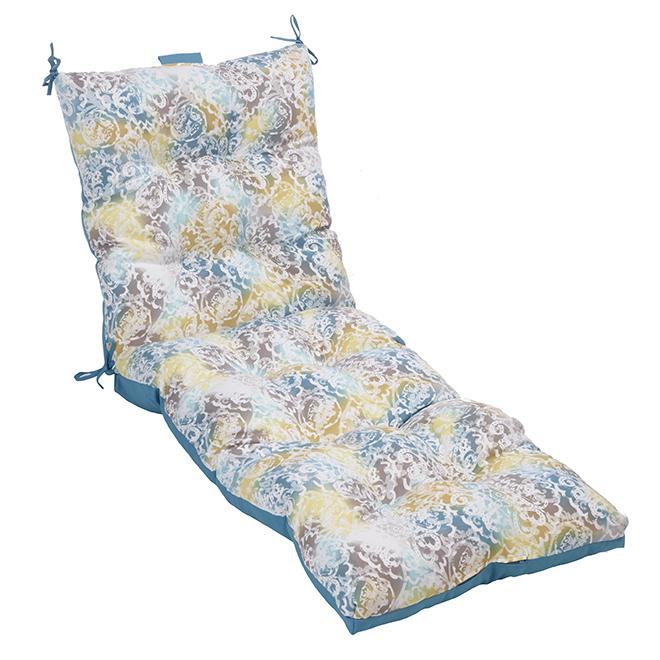 """Coussin pour chaise longue, polyester, 72"""" x 23"""", mosaïque"""