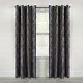 "Nippon Curtain Panel - Grommet - 54"" x 84"" - Charcoal"