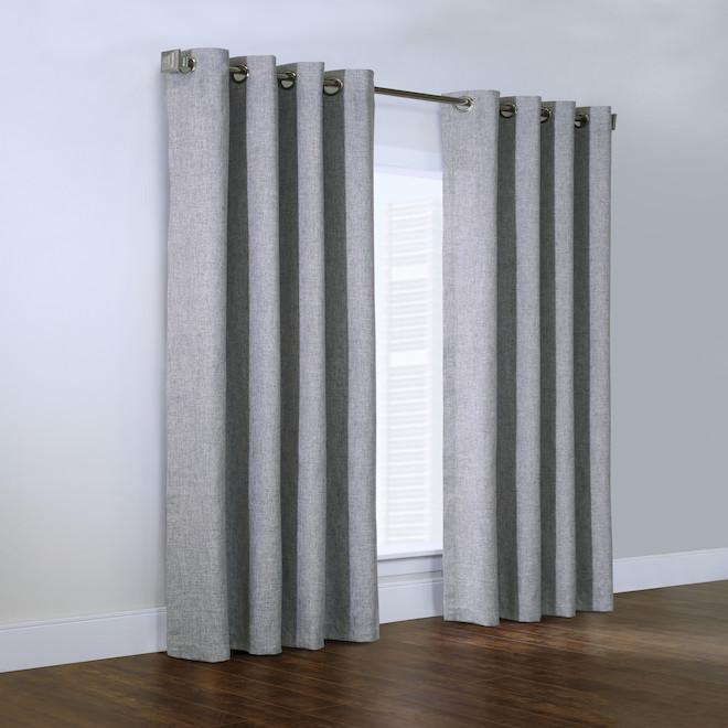 Couture Linum Grommet Panel - 50-in x 84-in - Light Grey