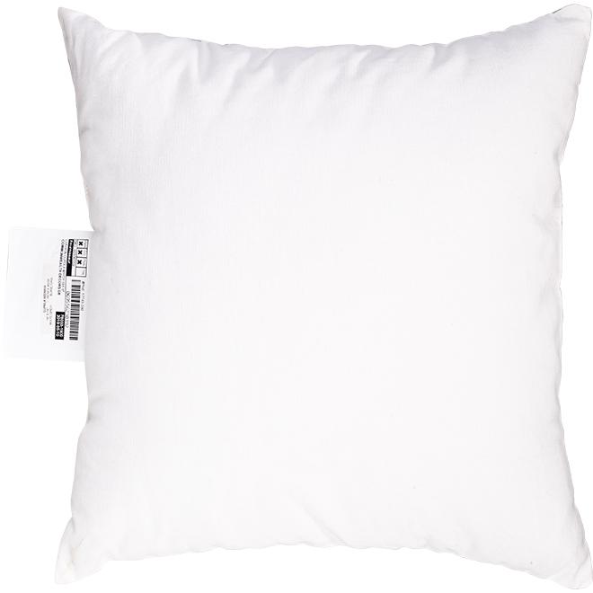 "Decorative Cushion - Polyester - 18"" x 18"" - White/Grey"