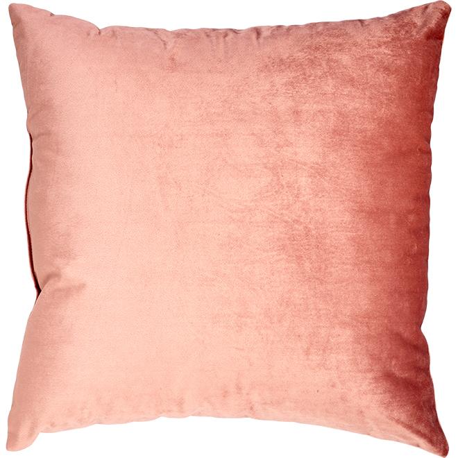 "Decorative Cushion - Polyester - 18"" x 18"" - Blushed Pink"