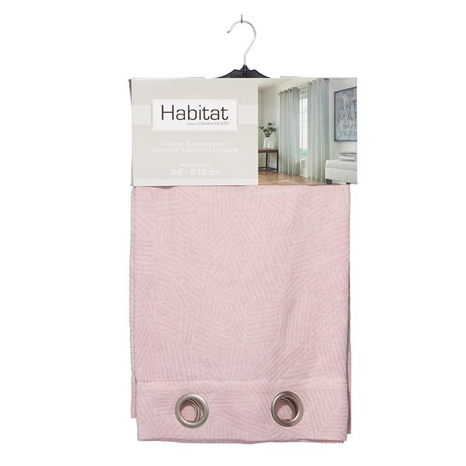 """Panneau de rideau à oeillets en polyester, 52x84"""", rose tendre"""