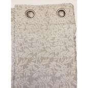 Rideau filtrant Martina en polyester, 52 po x 84 po, argent