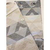 Rideau filtrant Tristar à motif géométrique et oeillets, 52 po x 84 po, naturel