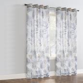 Rideau filtrant Alba avec oeillets, polyester, 52 po x 84 po, taupe