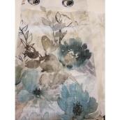Panneau de rideau à oeillets Floralie de Commonwealth 52 po x 95 po, vert spa