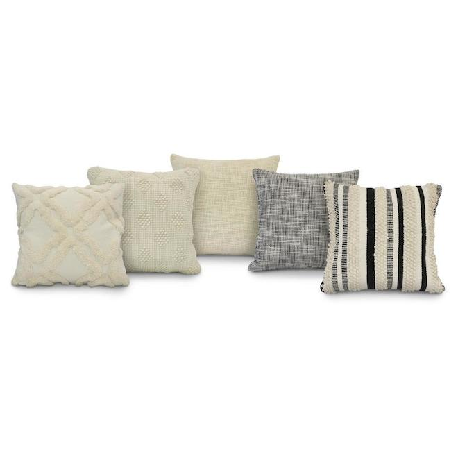 Commonwealth Spring Assorted Throw Pillows - 18-in x 18-in - Polyester