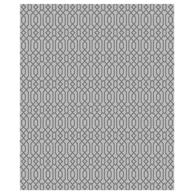 Interior Rug ''Greenfield'' - 8' x 10' - Cotton - Grey Tones