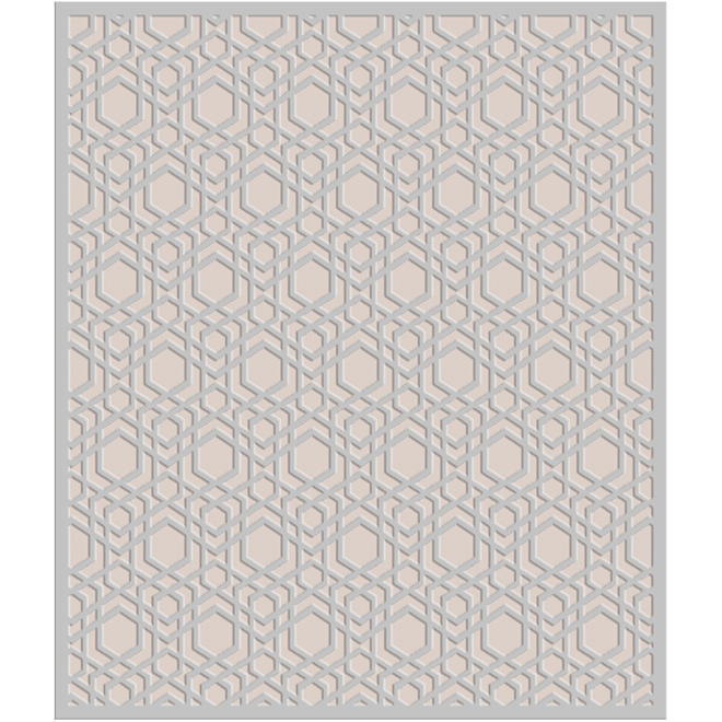 Interior Rug ''Nathalie'' - 8' x 10' - Polyester - Taupe