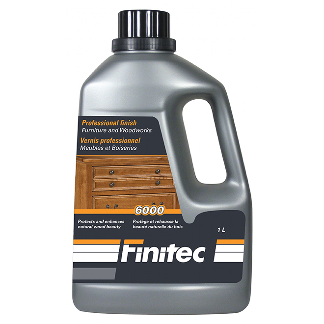 """Water Based Stain for Furniture - """"6000"""" - 1 L - Semi-Gloss"""