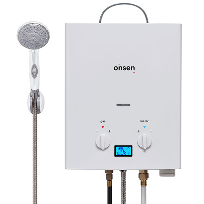 Onsen Outdoor Tankless Water Heater - 38,000 BTU - 6 Litres ON-PWH-6L