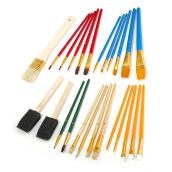 Set of 25 Assorted Artist Brushes