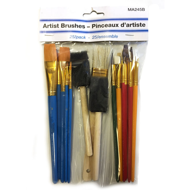 Brushed Kit - Artist - 25/Pack - Assorted