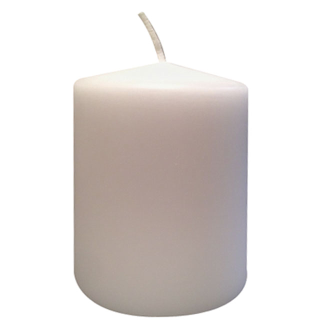 Unscented Paraffin Candle - 3 x 4 in