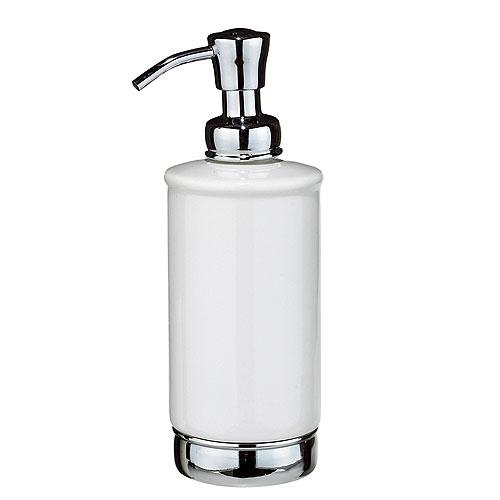Distributeur de savon en céramique York, blanc/chrome
