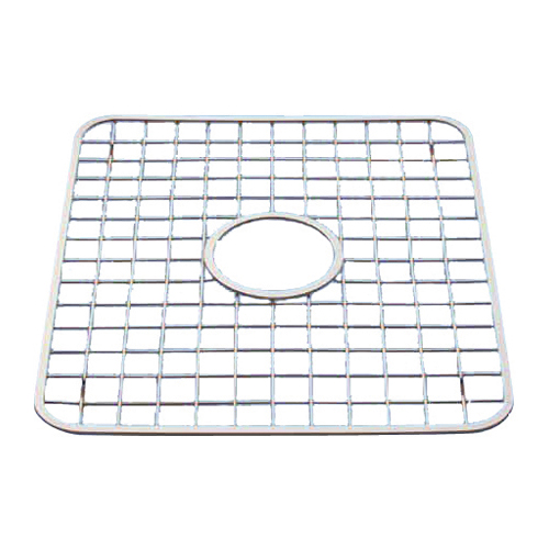 Sink Grid with Hole - Polished Stainless Steel