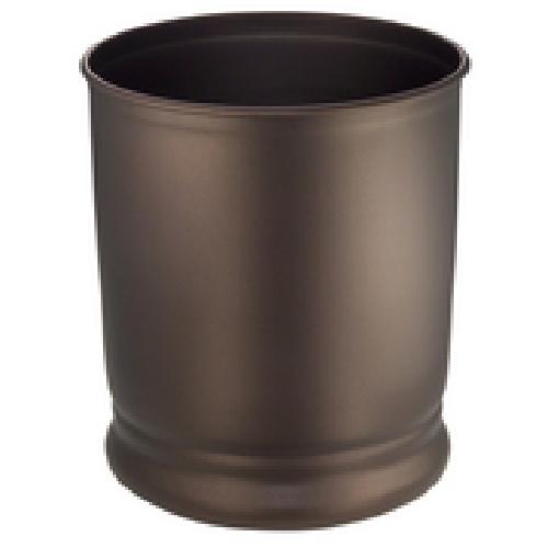 Interdesign Cameo Bathroom Garbage Can - Bronze finish Metal 24571