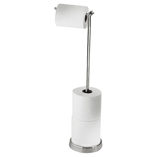 Porte-papier hygiénique sur pied «Classico», 24,5'', chrome