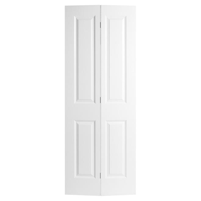 Porte pliante à 4 panneaux de Masonite, fibre durcie apprêtée, 36-po x 80-po x 1 3/8-po