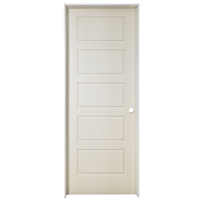 Riverside Prehung Door - Left - Primed - 30 in x 80 in x 1 3/8 in