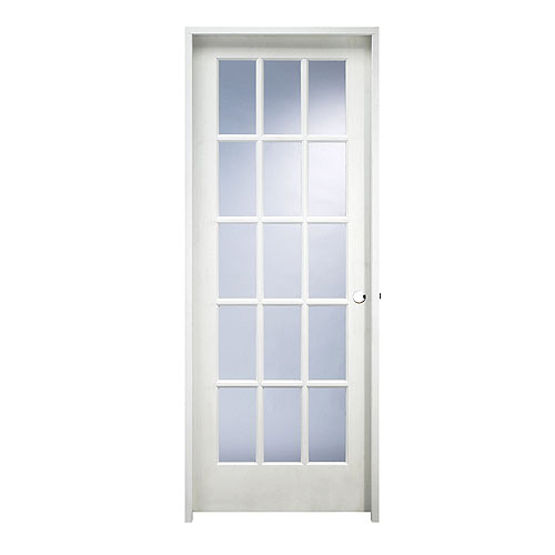 15 Panel Pre Hung Mdf French Door 32 X 80 Rona