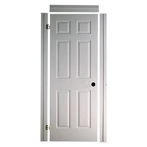 Porte texturée 6 panneaux «Fast-Fit» 24 x 80 po