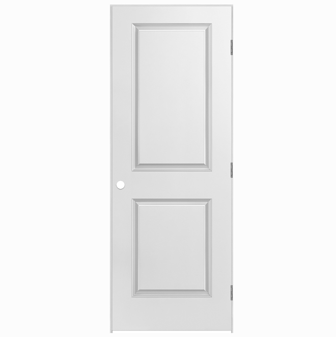 Pre-hung 2-Panels Door - Right - Primed Hardboard - 30 in x 80 in x 1 3/8 in