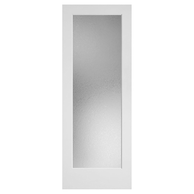 1-Lite Square Top French Door - 30-in x 80-in x 1 3/8-in - Glass / Primed MDF