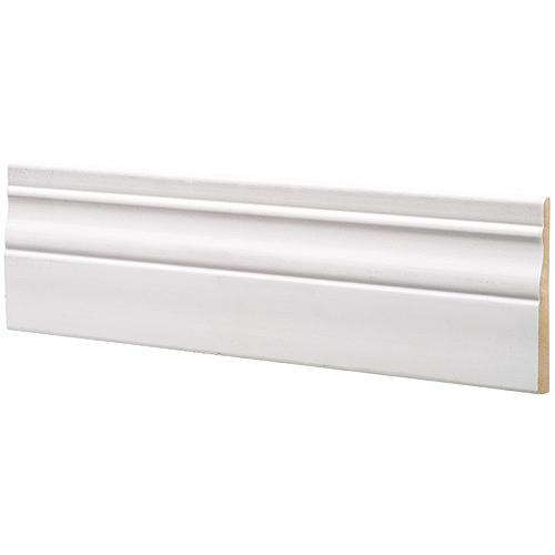Plinthe Metrie, MDF, apprêt de finition, utilisation intérieure, vendue au pied linéaire, blanche