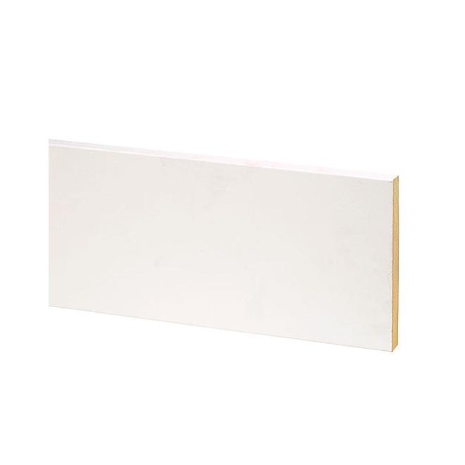 Metrie B4F Primed MDF Moulding - Flat Stock - White - 12-ft L x 3 1/2-in W x 9/16-in T