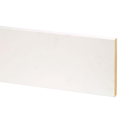 MDF Primed Moulding - S4S - UL - 9/16'' x 5 1/2'' x 12'' - White