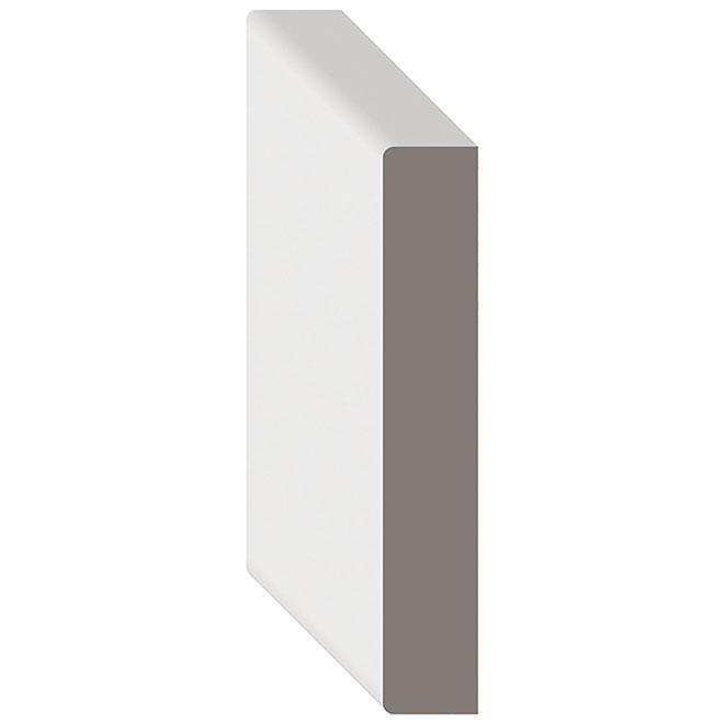 """S4S Primed MDF Moulding -  9/16"""" x 7 1/4"""" x 12' - White"""