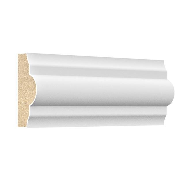 "Primed Panel Moulding - MDF - 11/8"" x 96"" x 1/2"" - White"