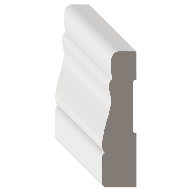 White Paint Finish MDF Casing 7 1/16 in x 2 1/8 in x 7 ft