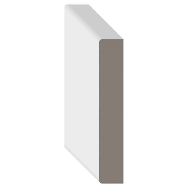White Paint MDF Board D4S 1 in x 3 in x 8 ft