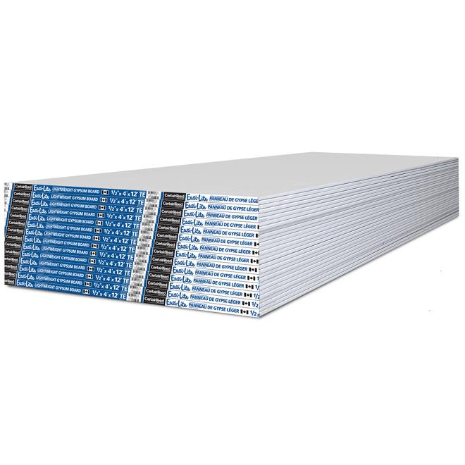 "Easi-Lite Lightweight Drywall - 1/2"" x 4' x 12'"