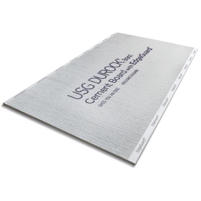 Panneau de ciment, 1/2'' x 4' x 8', gris