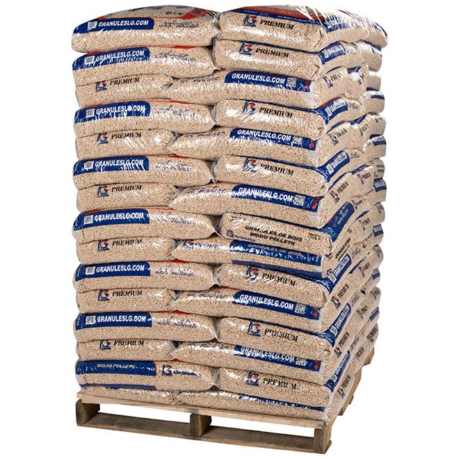 Granules de bois, 18,14 kg