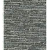 Textured Stonewall Prepasted Wallpaper